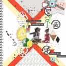 Digital scrapbooking page using Highs and Lows by Sahlin Studio