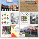 Week Twelve digital project life double page using Highs and Lows by Sahlin Studio