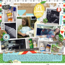 Bad tummy digital scrapbooking page using Highs and Lows by Sahlin Studio