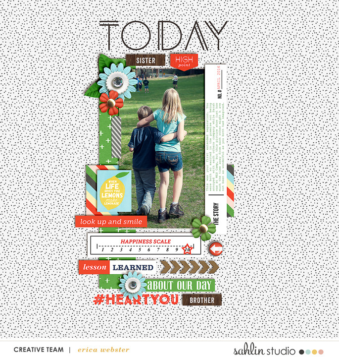 Today digital scrapbooking page using  Highs and Lows by Sahlin Studio