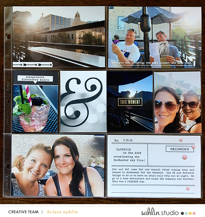 Night Out Project Life page using Me and You by Sahlin Studio