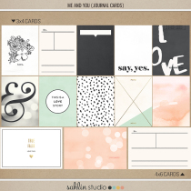 Me and You | Journal Cards by Sahlin Studio - Perfect for your Wedding, Love or everyday Project Life album