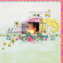 layout featuring Modern Words: Springtime by Sahlin Studio