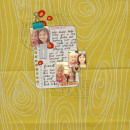 layout featuring Stapled Notes Alpha by Sahlin Studio