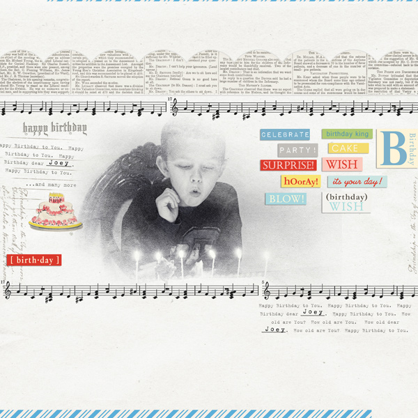layout featuring Birthday Cake by Sahlin Studio