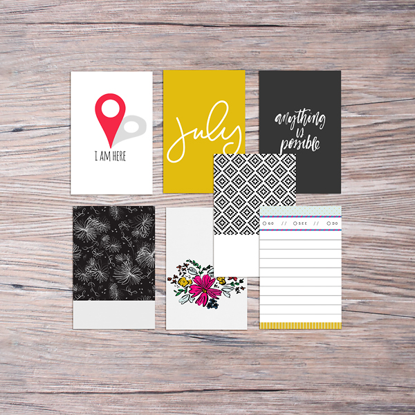 Memory Pocket Monthly (MPM) | BOLD - Summer, Kids, 4th of July, Color, Subscription by The LilyPad Designers - Perfect for your Project Life albums!