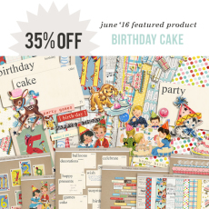 June 2016 Featured Product | Birthday Cake by Sahlin Studio