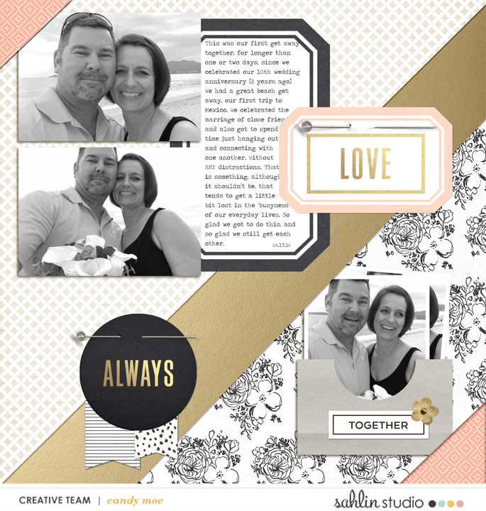 layout by ctmm4 featuring the June 2016 FREE Template and Me & You Collection by Sahlin Studio