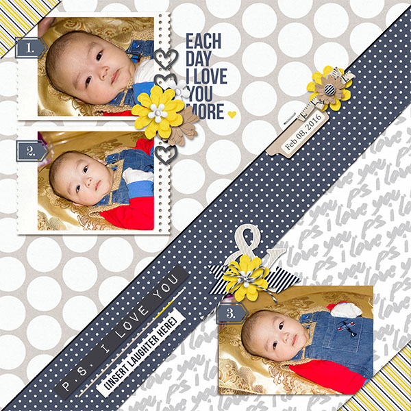 layout by Ngoc Nguyen Thi featuring June 2016 FREE Template by Sahlin Studio