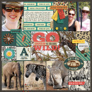 Safari pocket scrapbooking page by Iowan using Project Mouse: Animal by Britt-ish Designs and Sahlin Studio