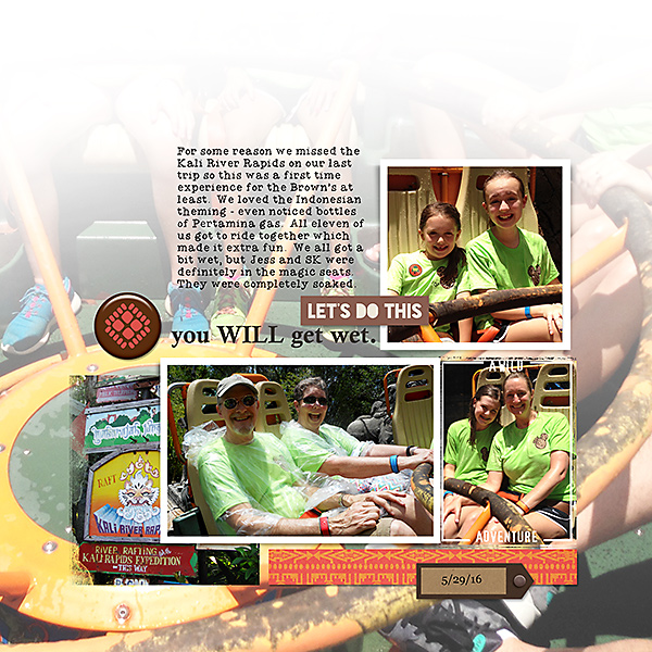 River Rafting digital scrapbooking page by ashleywb using Project Mouse: Animal by Britt-ish Designs and Sahlin Studio