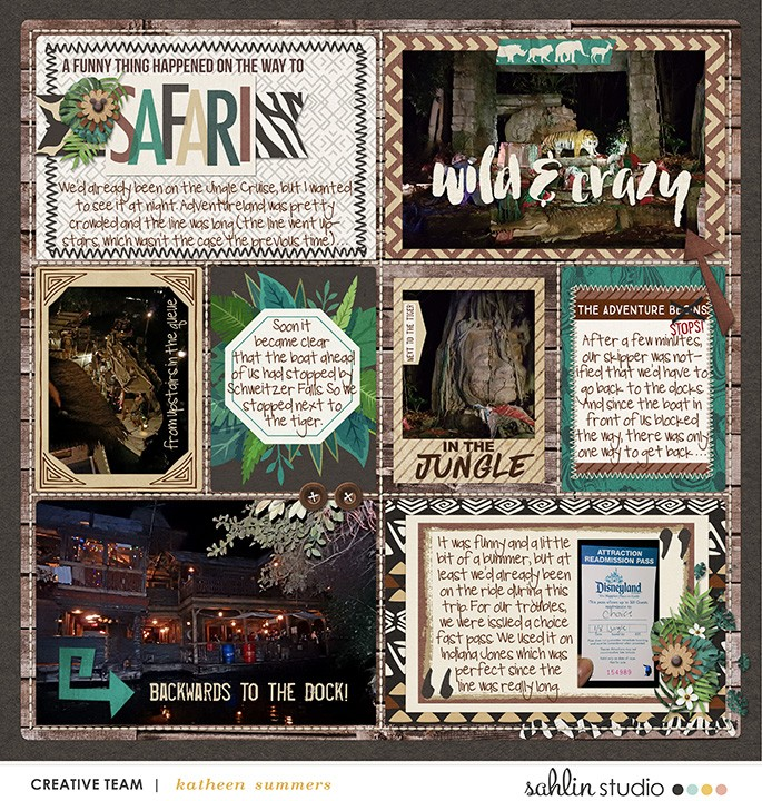Animal Kingdom digital pocket scrapbooking page using Project Mouse: Animal by Britt-ish Designs and Sahlin Studio