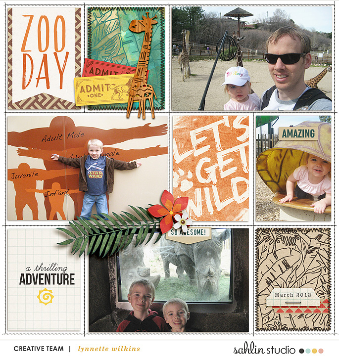 Zoo Day Project Life page using Project Mouse: Animal by Britt-ish Designs and Sahlin Studio