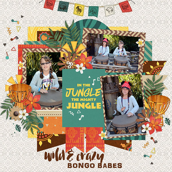 Animal Kingdom Bongo Babes digital scrapbooking page by melinda using Project Mouse: Animal by Britt-ish Designs and Sahlin Studio