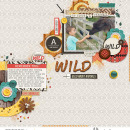 Wild digital scrapbooking page using Project Mouse: Animal by Britt-ish Designs and Sahlin Studio