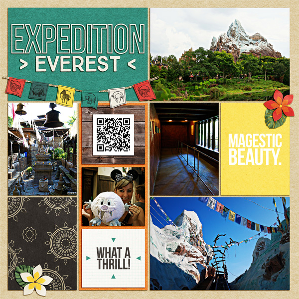 Expedition Everest Animal Kingdom Project Life page using Project Mouse: Animal by Britt-ish Designs and Sahlin Studio