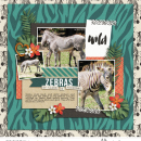 Zoo Zebras digital scrapbook page using Project Mouse: Animal by Britt-ish Designs and Sahlin Studio