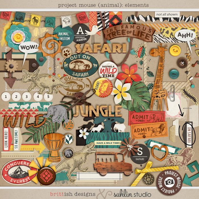 Project Mouse: Elements  by Britt-ish Designs and Sahlin Studio -  Perfect for documenting Project Life for Animal Kingdom, safari,