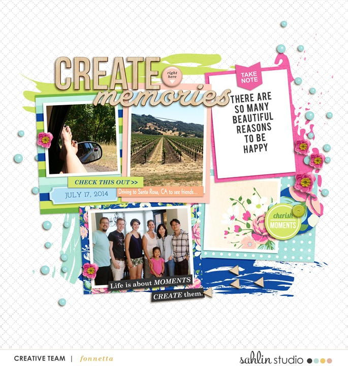 digital scrapbooking layout created by fonnetta featuring Create by Sahlin Studio