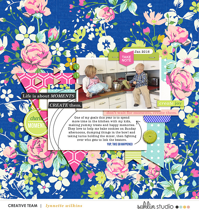 digital scrapbooking layout created by lynnette featuring Create by Sahlin Studio