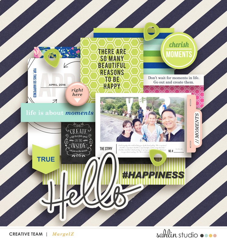 digital scrapbooking layout created by margelz featuring Create by Sahlin Studio