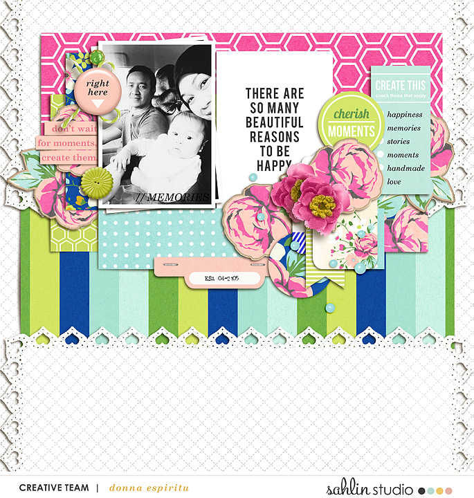 digital scrapbooking layout created by scrappydonna featuring Create by Sahlin Studio