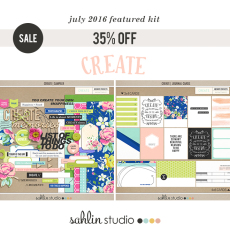 July 2016 Featured Product Create by Sahlin Studio