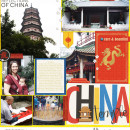 China Digital Project Life Layout page using Project Mouse (World): China by Britt-ish Design and Sahlin Studio