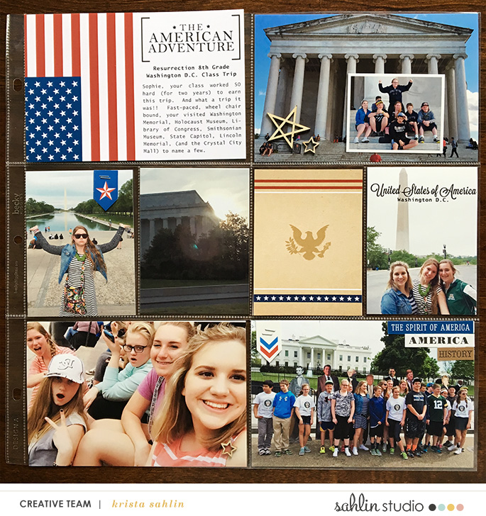 Washington DC School Field Trip  Project Life Layout page using Project Mouse (World): America by Britt-ish Design and Sahlin Studio