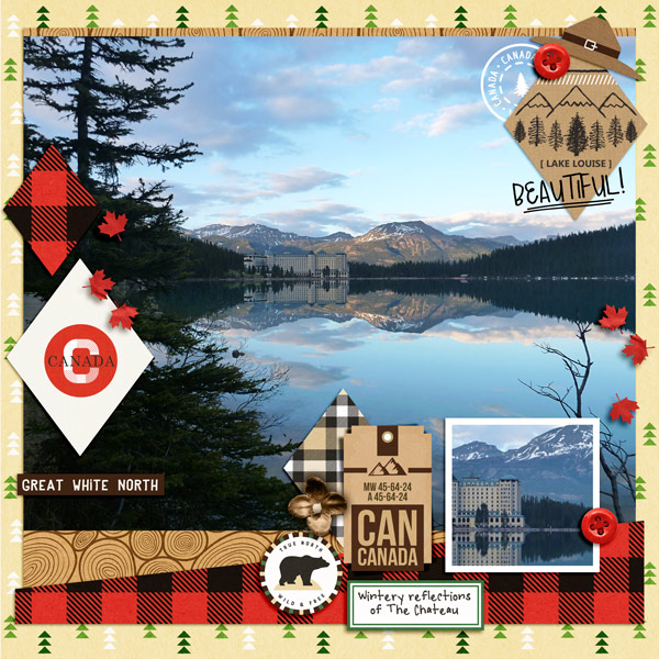 Great White North  Canada Digital Scrapbook Layout page using Project Mouse (World): Canada by Britt-ish Design and Sahlin Studio