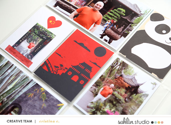 China Project Life Layout page using Project Mouse (World): China by Britt-ish Design and Sahlin Studio