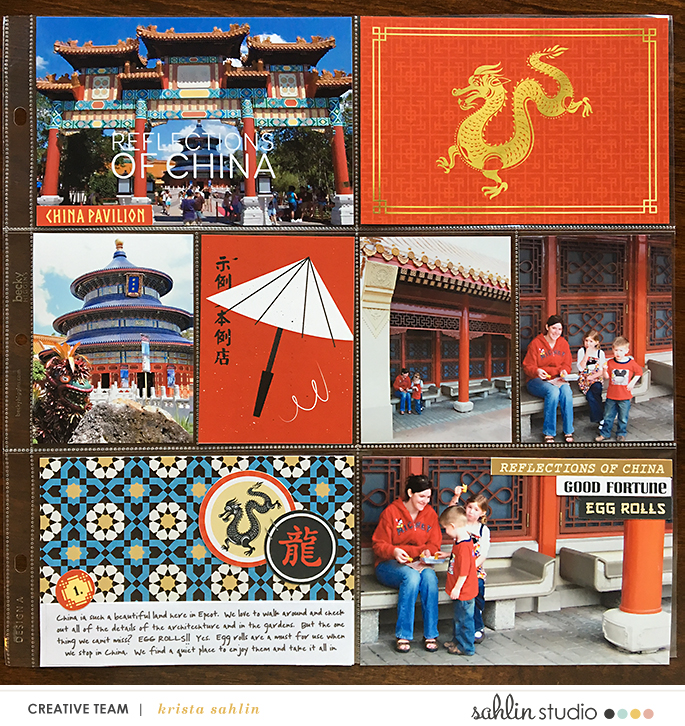 Disney Epcot China Project Life Layout page using Project Mouse (World): China by Britt-ish Design and Sahlin Studio