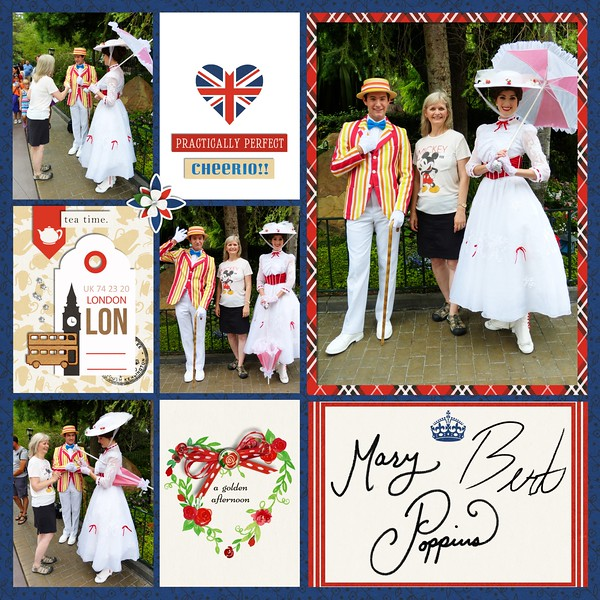 England Disney Epcot Mary Poppins Project Life Layout page using Project Mouse (World): United Kingdom England by Britt-ish Design and Sahlin Studio