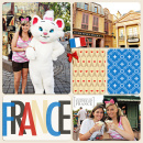 Disney Epcot France Project Life Layout page using Project Mouse (World):France by Britt-ish Design and Sahlin Studio