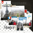 France Eiffel Tower Digital Scrapbook Layout page using Project Mouse (World):France by Britt-ish Design and Sahlin Studio