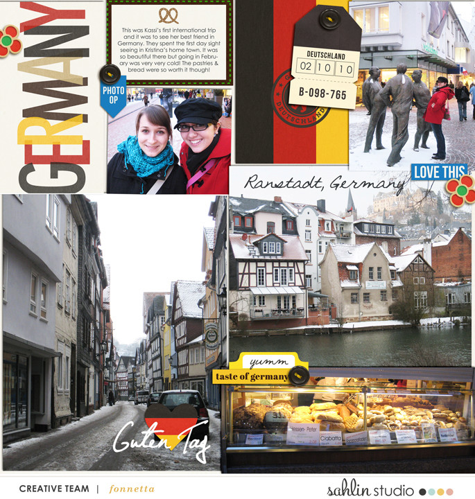 Germany Digital Scrpabook  Layout page using Project Mouse (World): Germany by Britt-ish Design and Sahlin Studio