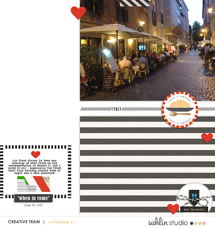 Rome Italy Italian Digital Scrpabook  Layout page using Project Mouse (World): Italy by Britt-ish Design and Sahlin Studio