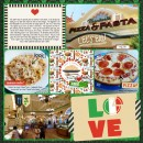 Pizza Pasta Italy Project Life Layout page using Project Mouse (World): Italy by Britt-ish Design and Sahlin Studio