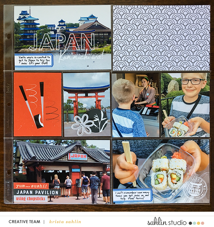 Disney Epcot Japan Sushi Project Life Layout page using Project Mouse (World): Japan by Britt-ish Design and Sahlin Studio