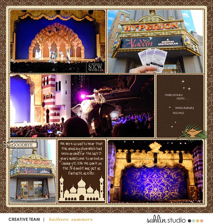Genie Aladdin Morocco Digital Project Life Layout page using Project Mouse (World): Morocco by Britt-ish Design and Sahlin Studio