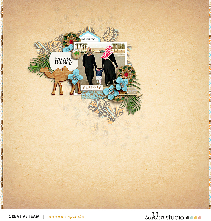 Salam Digital Scrapbook Layout page using Project Mouse (World): Morocco by Britt-ish Design and Sahlin Studio