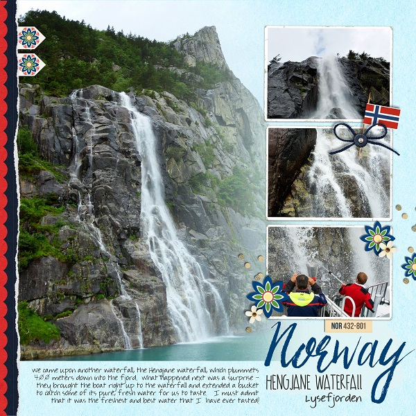 Norway Digital Scrapbook Layout page using Project Mouse (World): Norway by Britt-ish Design and Sahlin Studio