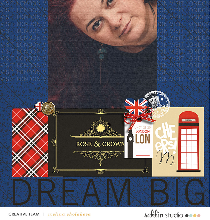 Digital Scrapbook Layout page using Project Mouse (World): United Kingdom England by Britt-ish Design and Sahlin Studio