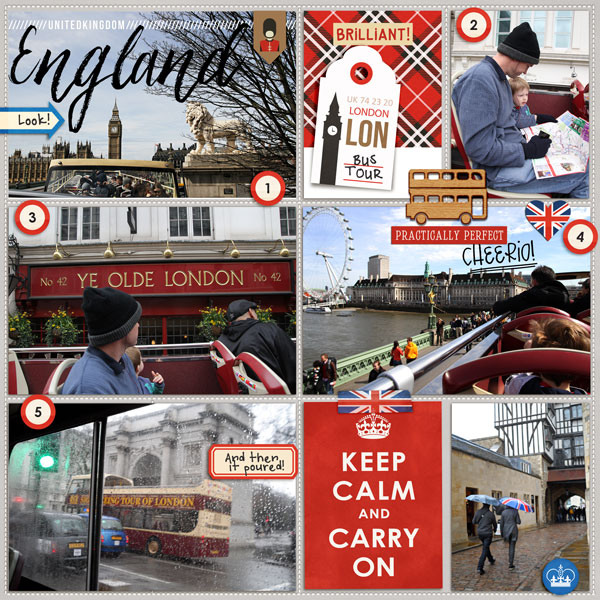 London  England Tower Bridge Project Life Layout page using Project Mouse (World): United Kingdom England by Britt-ish Design and Sahlin Studio
