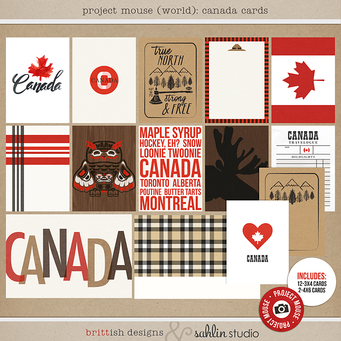 Project Mouse (World): Canada Journal Cards by Britt-ish Design and Sahlin Studio