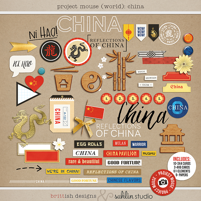 Project Mouse (World): China by Britt-ish Design and Sahlin Studio - Perfect for your Project Life or Project Mouse Disney Epcot Album