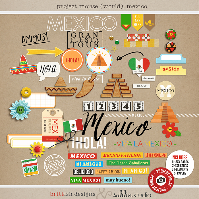 Project Mouse (World): Mexico by Britt-ish Design and Sahlin Studio - Perfect for your Project Life or Project Mouse Disney Epcot Album!