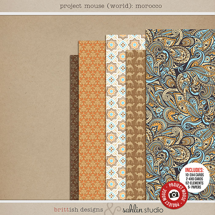 Project Mouse (World): Morocco by Britt-ish Design and Sahlin Studio - Perfect for your Project Life or Project Mouse Disney Epcot Album!