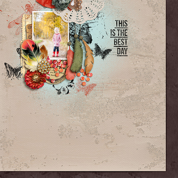 This Is the best day digital scrapbooking page  by sucali featuring Lined Up Word Art No1 by Sahlin Studio