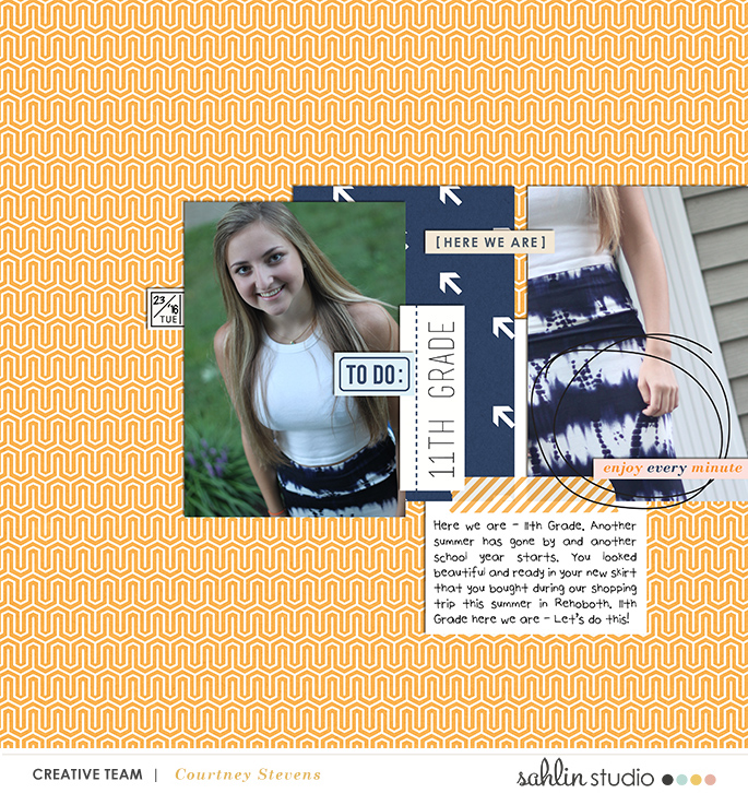 digital scrapbooking created by cnscrap featuring The Everyday Routine by Sahlin Studio